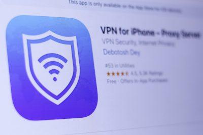 Screenshot of VPN app for iPhone in App Store