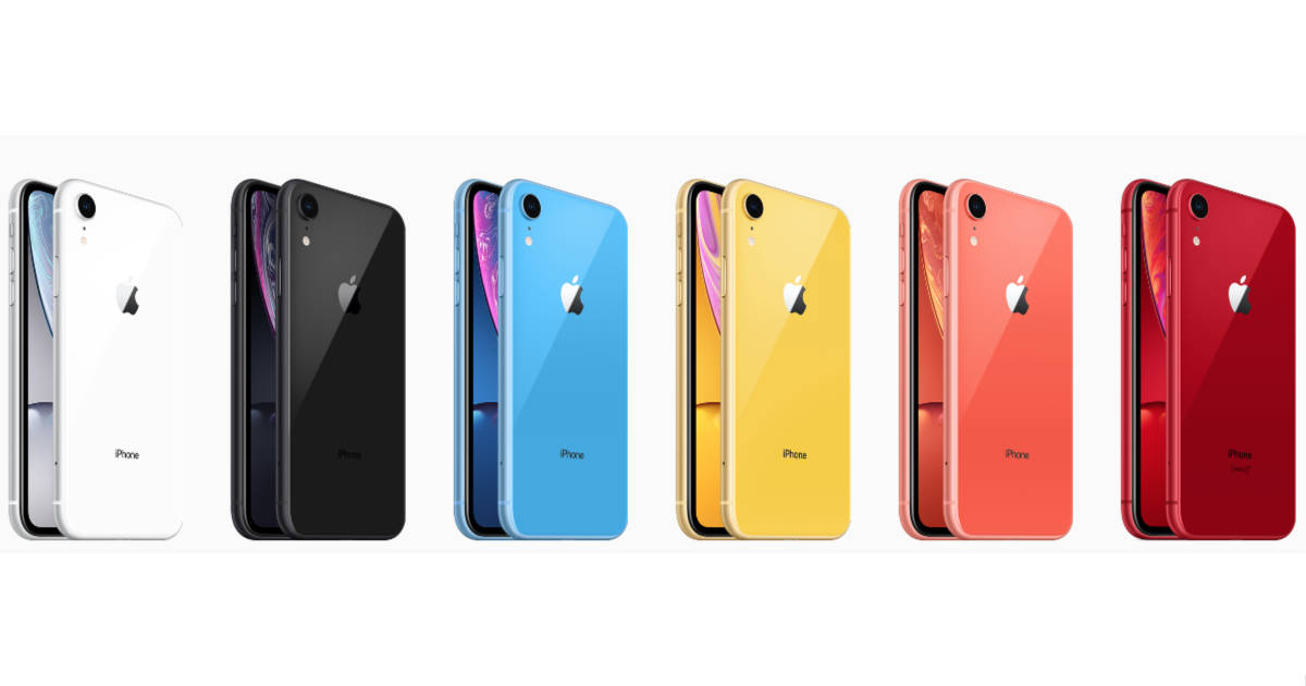 iPhone XR smartphone available in several colors
