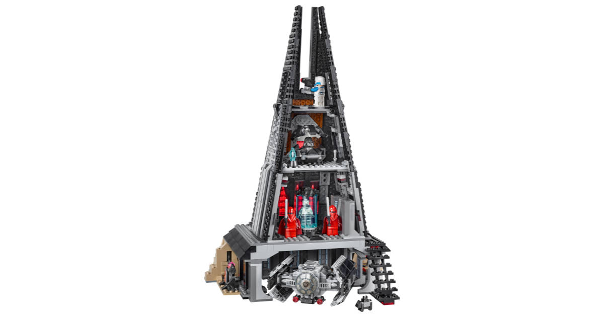 LEGO Darth Vader's Castle Is Like a Little Mustafar in Your Home