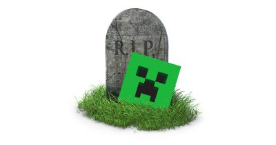 Minecraft for Apple TV and tombstone