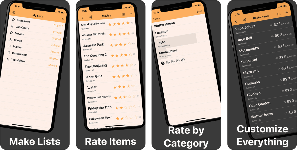 New App Mister Lister Lets You Make and Rate Lists