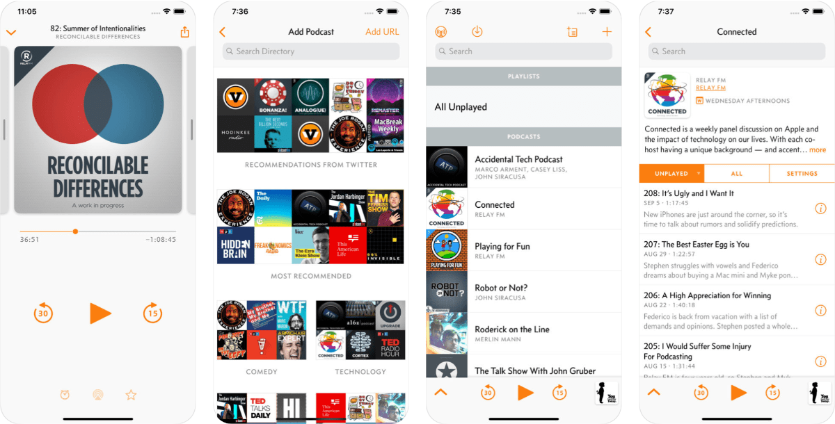 images of overcast in our roundup of apple alternative apps.