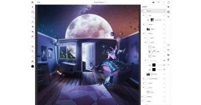 Adobe Photoshop CC on Apple iPad Pro