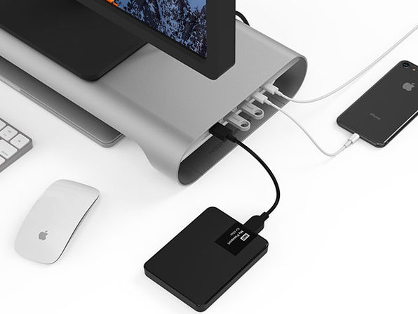 Laptop and Monitor Stand with Built-in USB-C Hub: $154.99