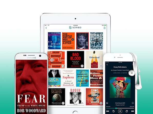 6-Month Scribd Subscription for Books, Audiobooks, Magazine Articles: $35
