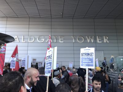 Uber drivers and supporters strike