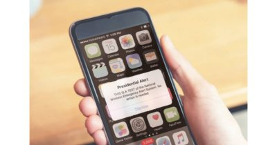 Presidential Alert test message on iPhone