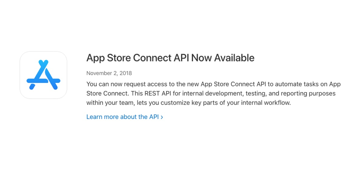 App Store Connect API