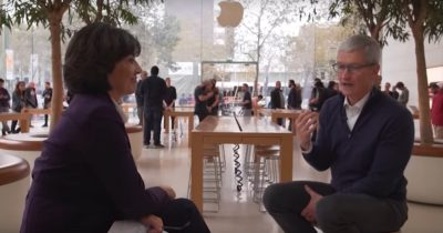 Tim Cook with Chrstiane Amanpour