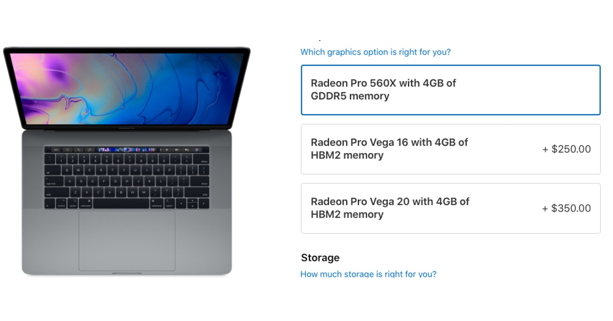 You Can Now Buy a 15-Inch MacBook Pro with Radeon Pro Vega Graphics Options