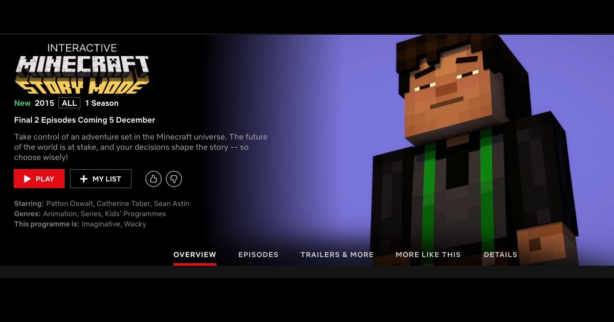 Minecraft Interactive Adventure Now on Netflix