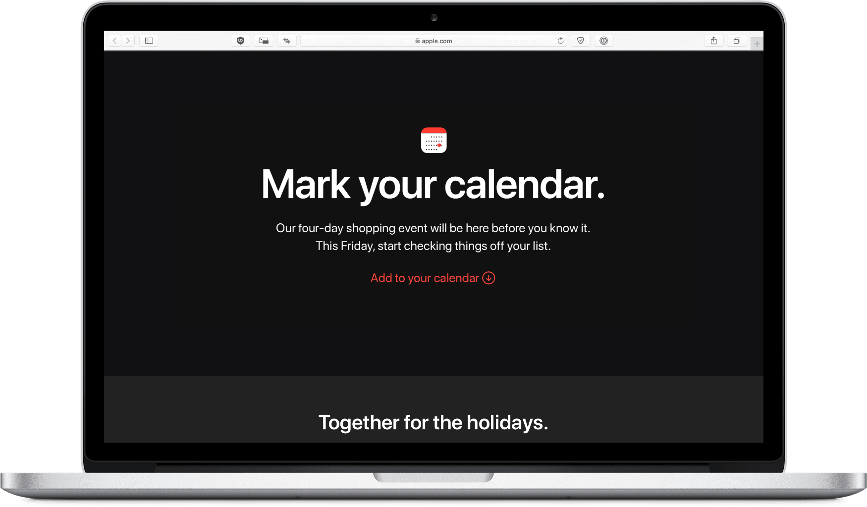image of apple black friday page