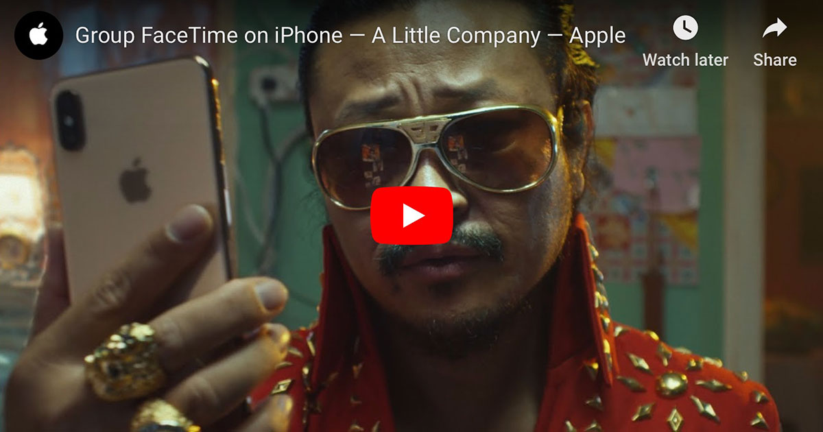 Group FaceTime on iPhone — A Little Company — Apple