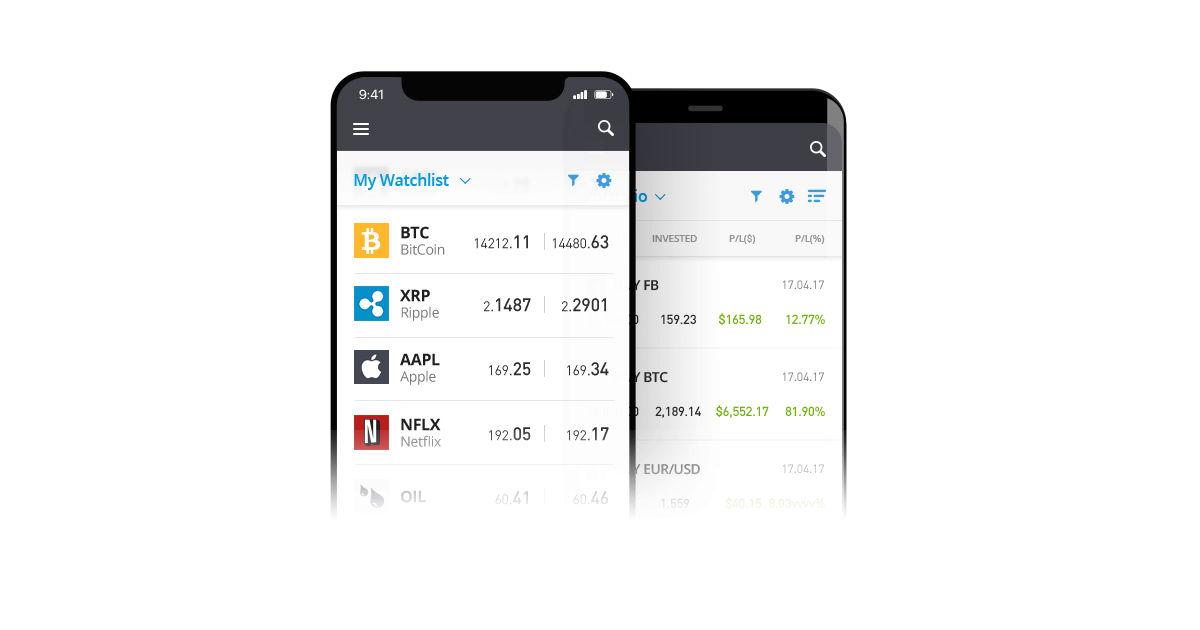 eToro new mobile app