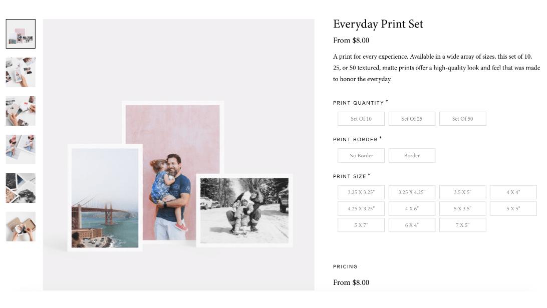 artifact uprising everyday print set