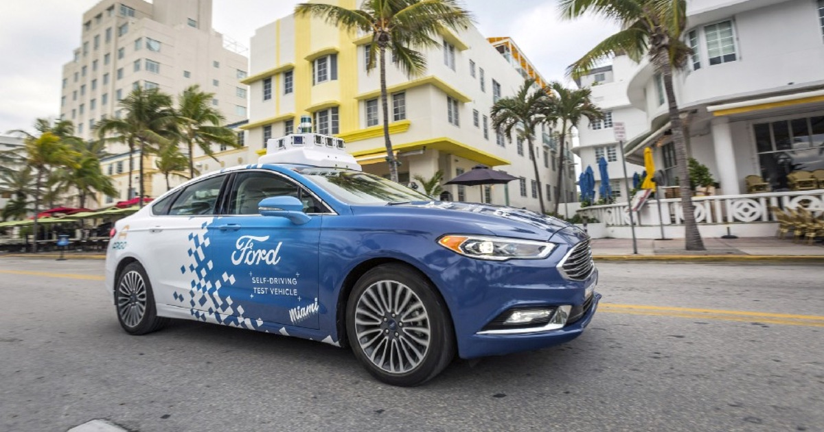 Ford self-driving vehicle