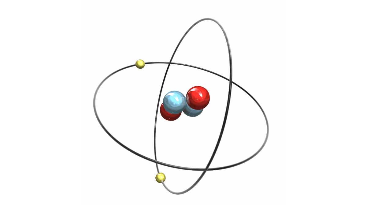 representation of a helium atom