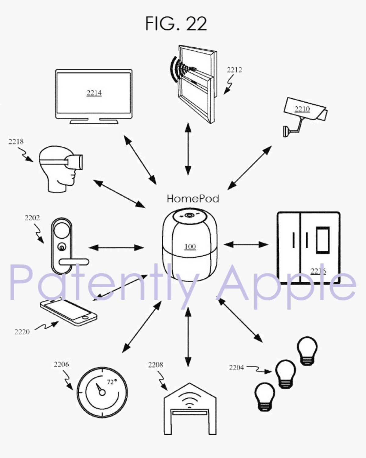 image of homepod ar patent