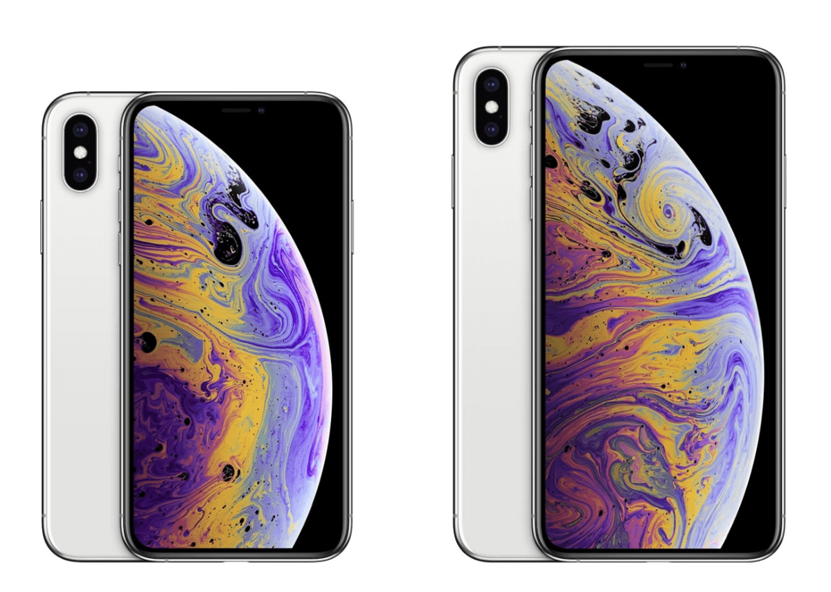 image of iphone xs and iphone xs max