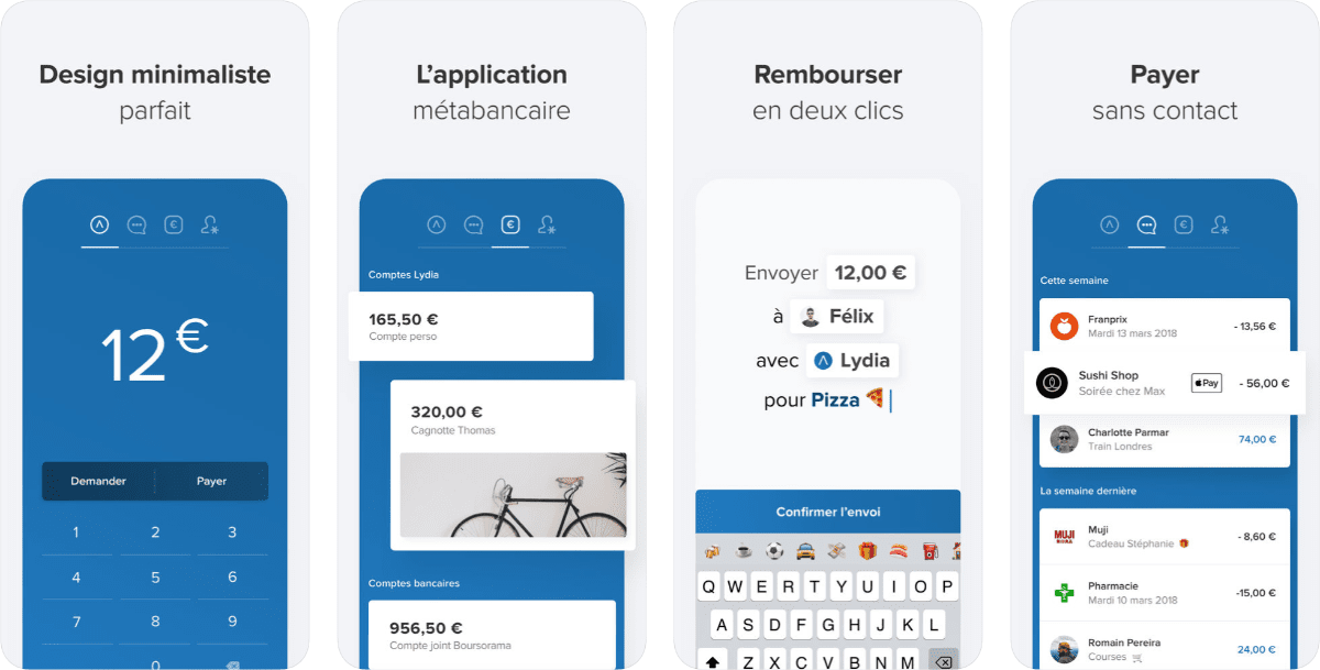 screenshots of lydia app to get iphone insurance