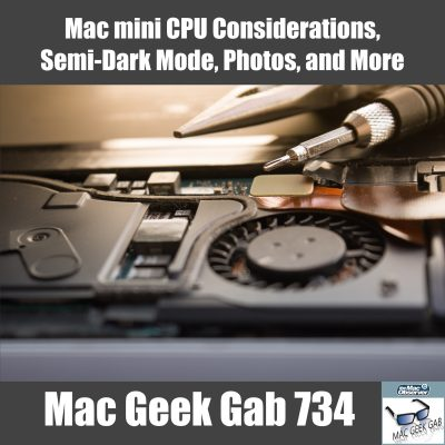 Mac mini CPU Mac Geek Gab 734