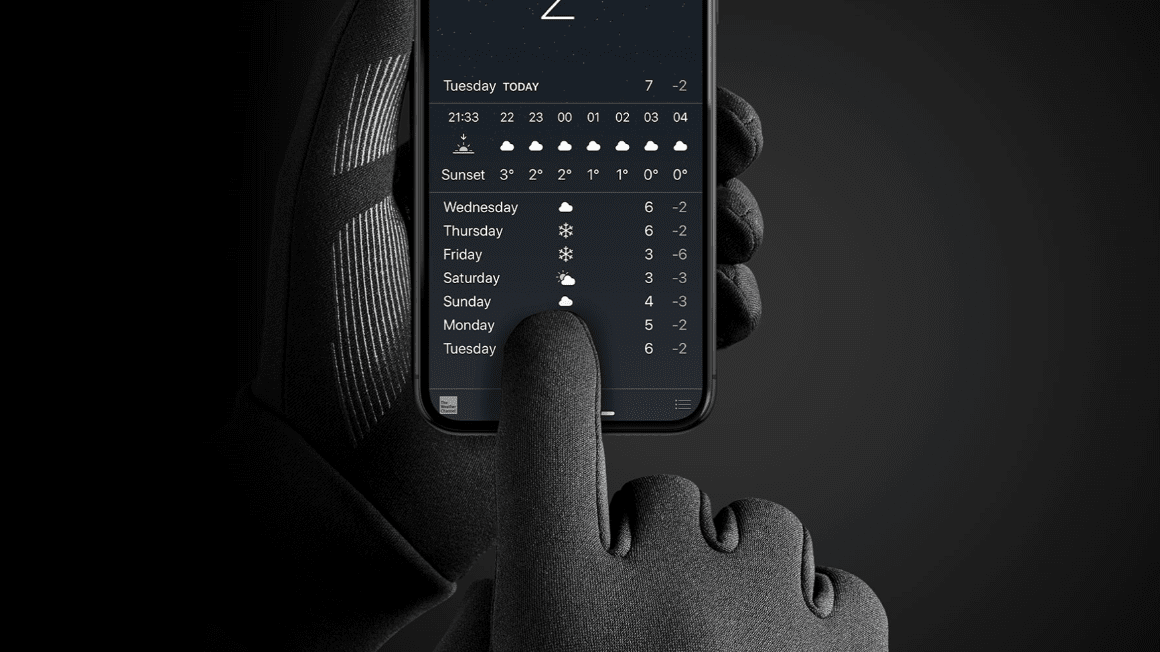 mujjo touchscreen gloves for our 2018 holiday gift guide