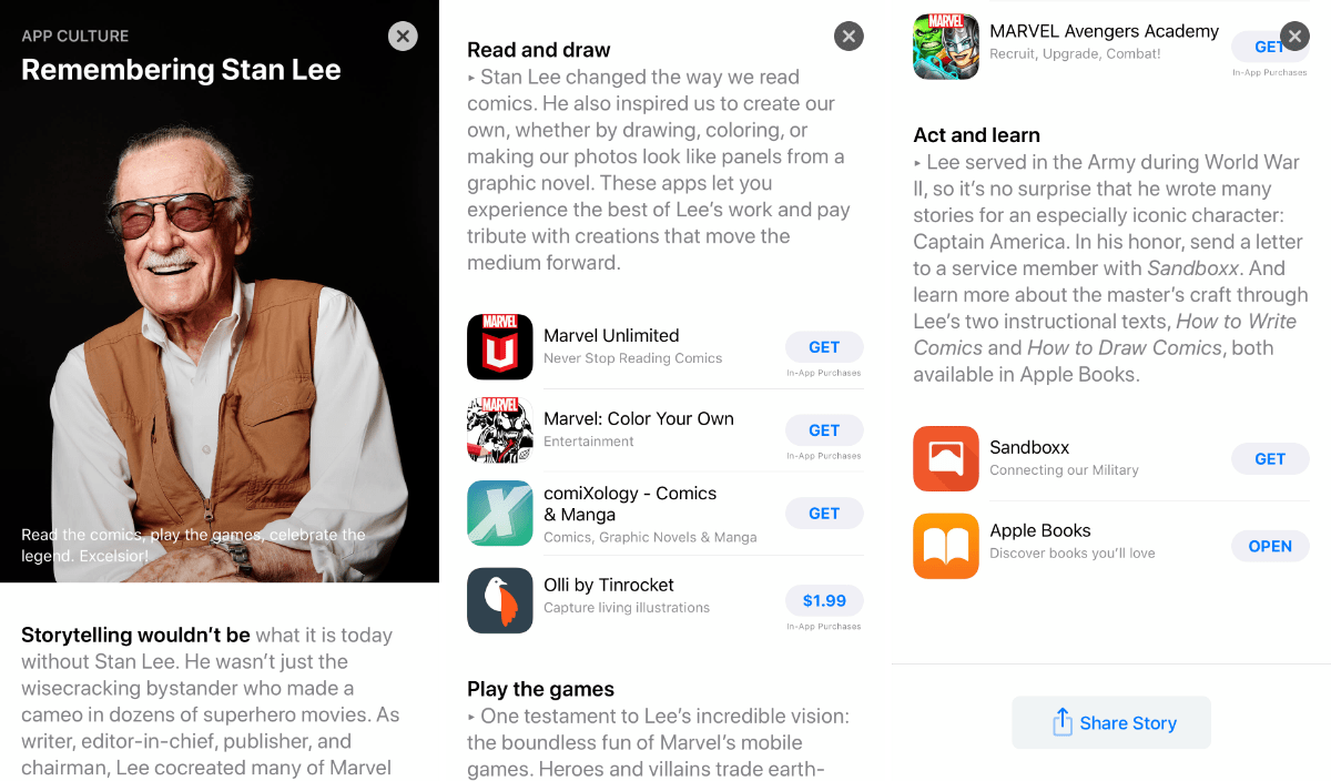 Remembering Stan Lee: An App Store Story