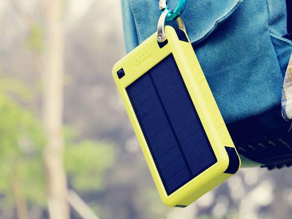 SolarJuice 26,800mAh External Battery – with Solar Panels: $46.99