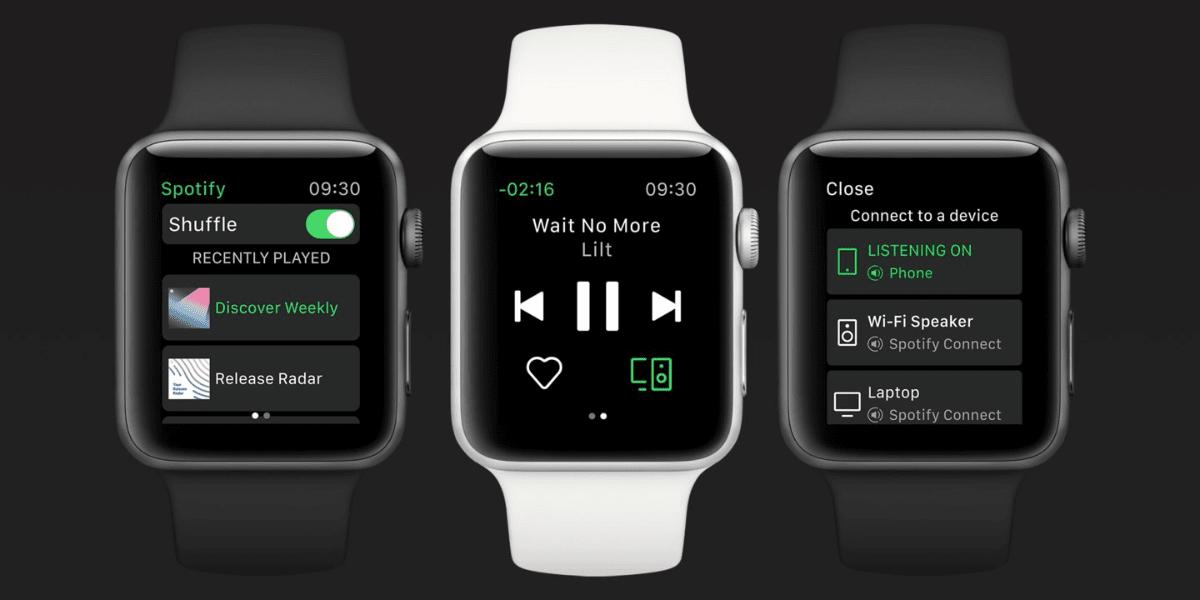 spotify Apple Watch app