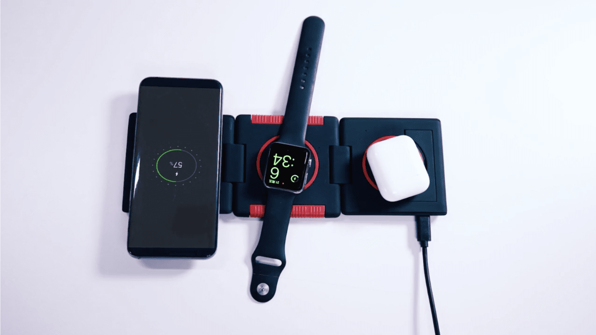 Unravel is a Foldable Wireless Charging Station