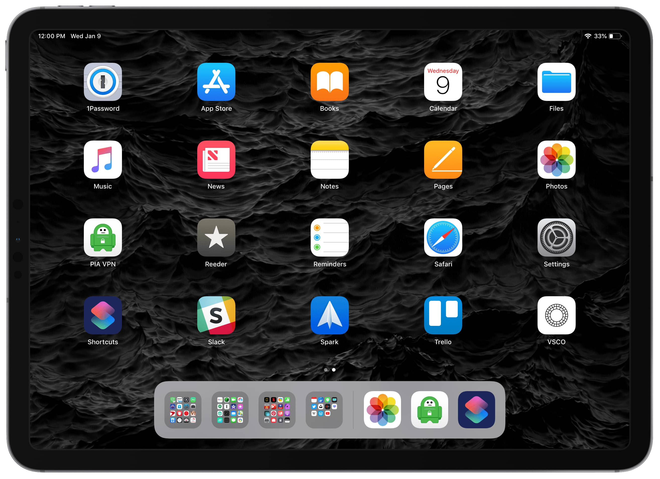 image of iPad pro home screen