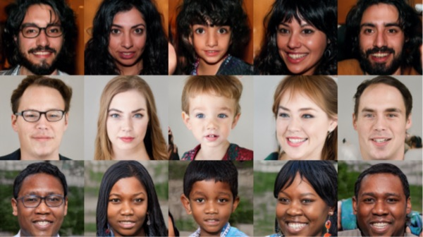 AI created human faces