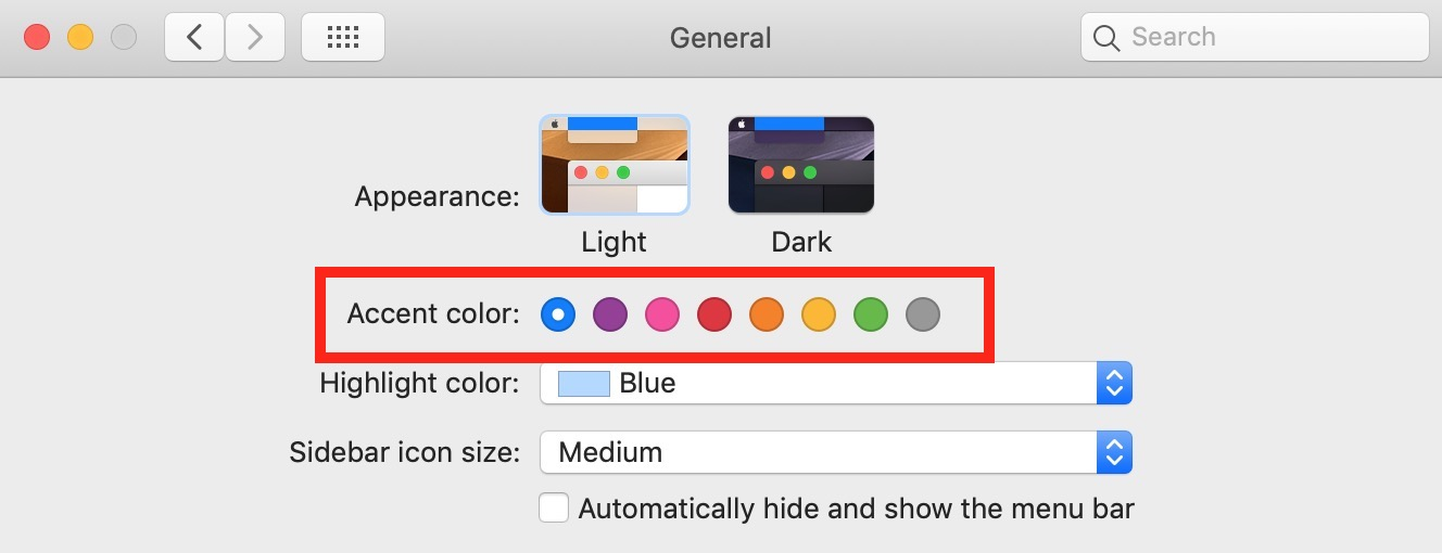 """Accent Color"" Options"