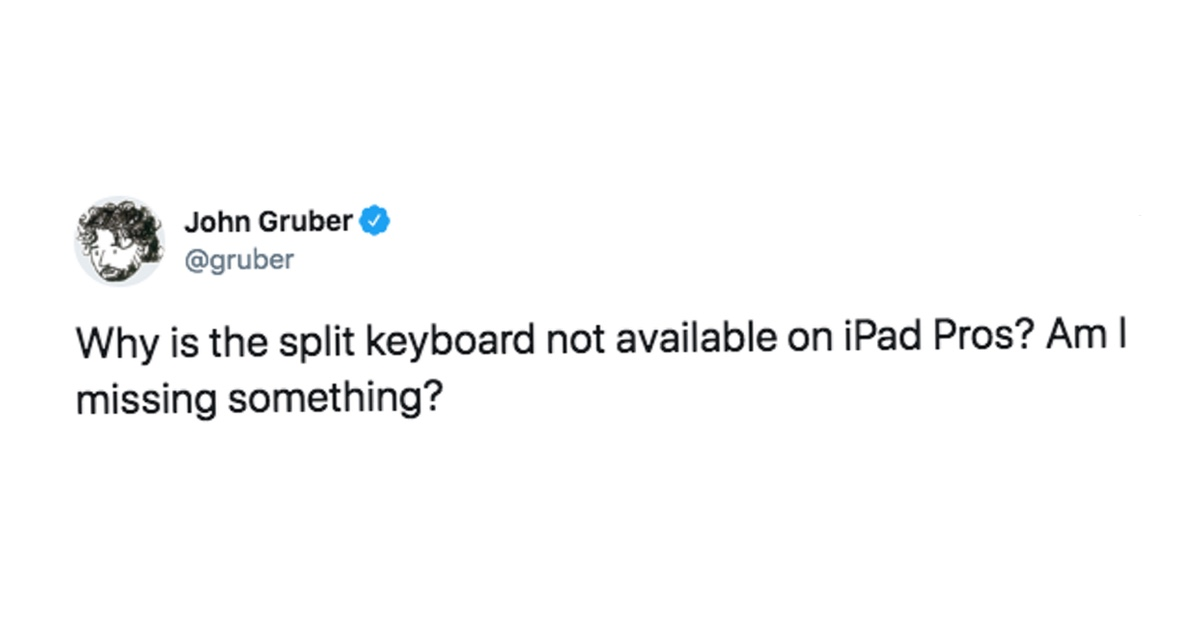 The iPad Pro Needs the Split Keyboard