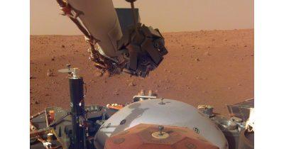 Mars probe InSight on Mars