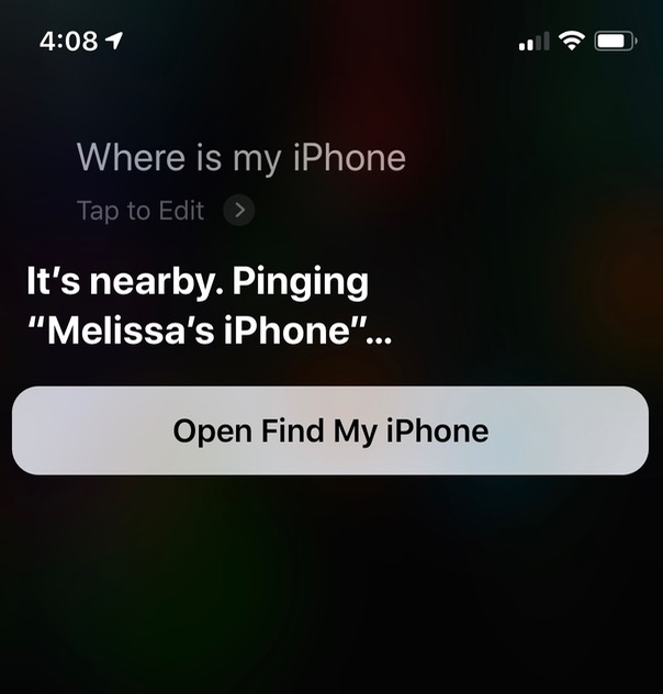 Pinging iPhone