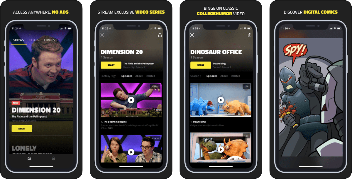 CollegeHumor Launches Comedy App DROPOUT
