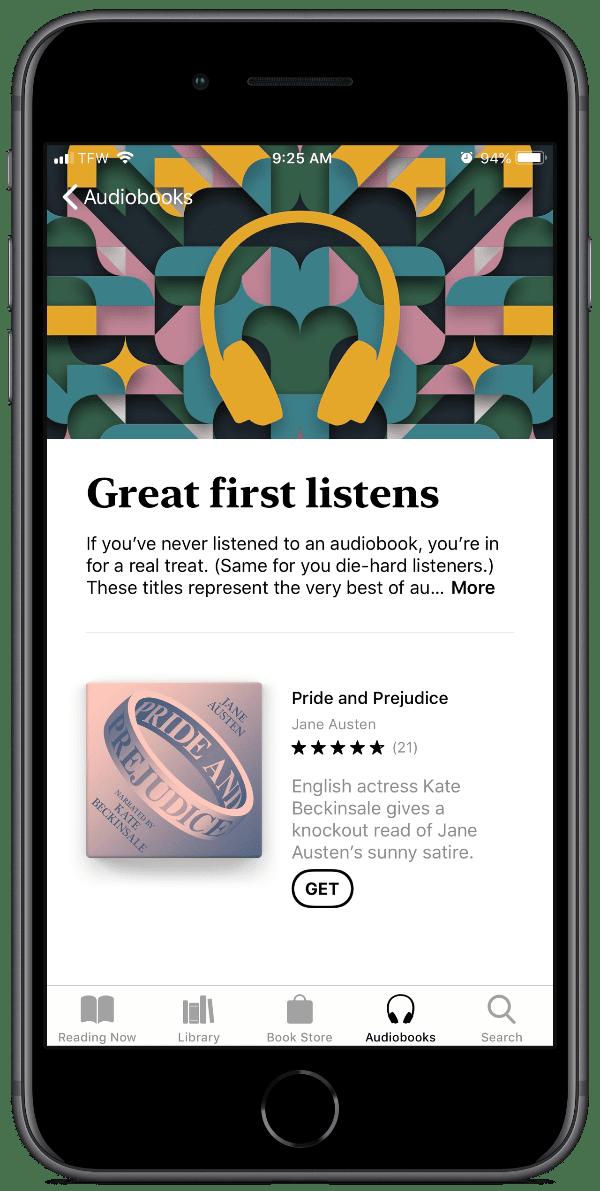 image of free audiobooks in Apple Books