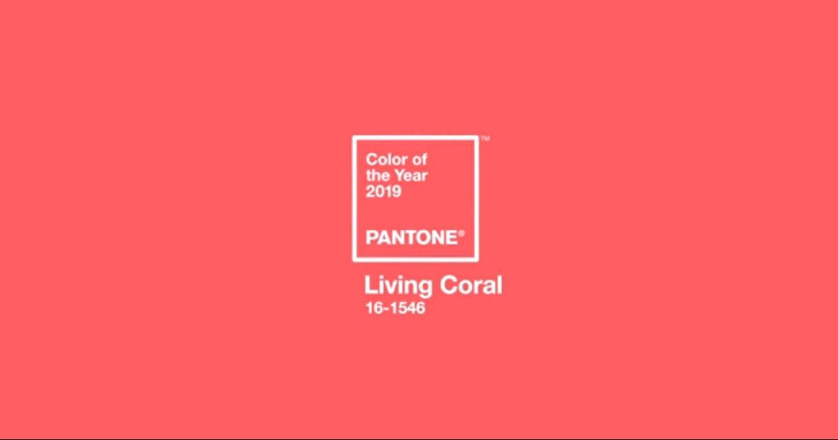 Living Coral – Pantone's Color of the Year for 2019
