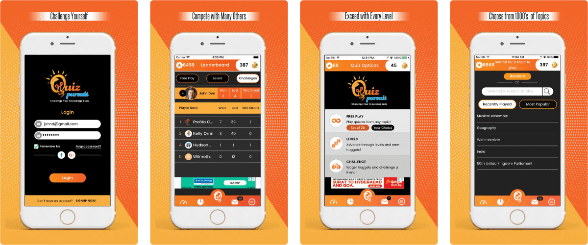 Test Your Knowledge With Quiz Pursuit Trivia App