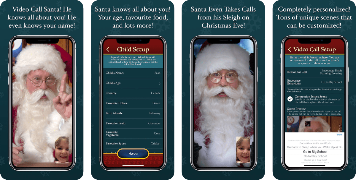 video call and track santa app