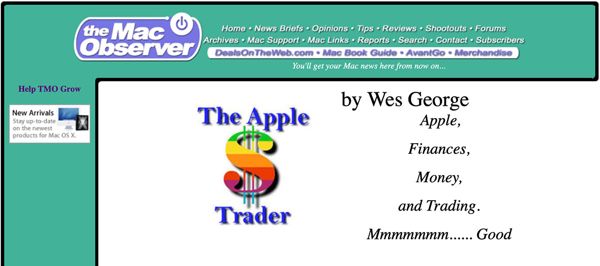 The Mac Observer circa 2000