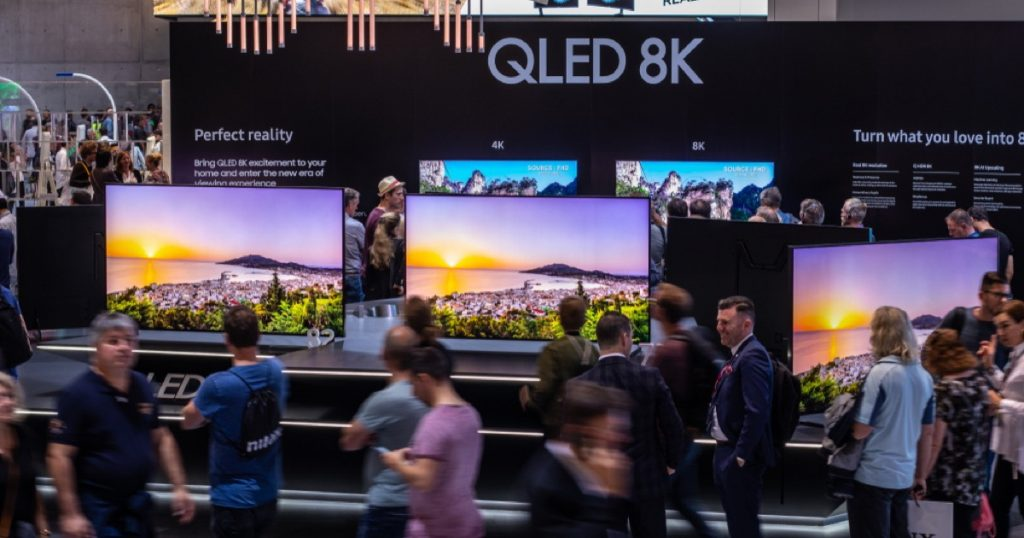 8K TVs on display