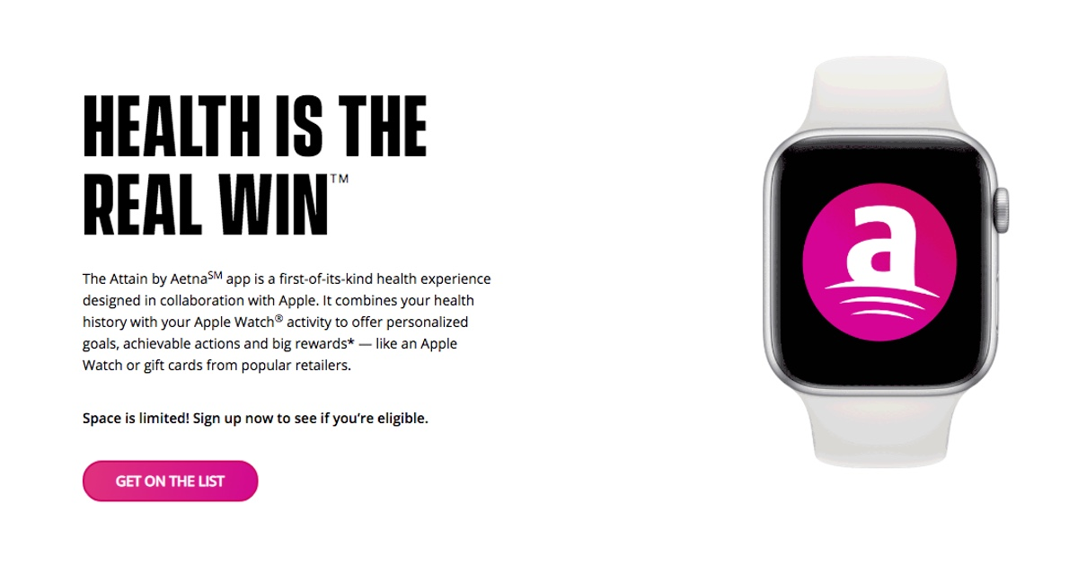 Attain – New Apple Watch Health App from Aetna and Apple
