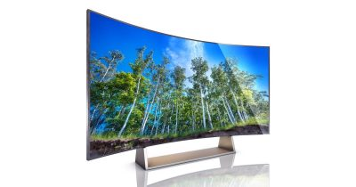 Curved TV display