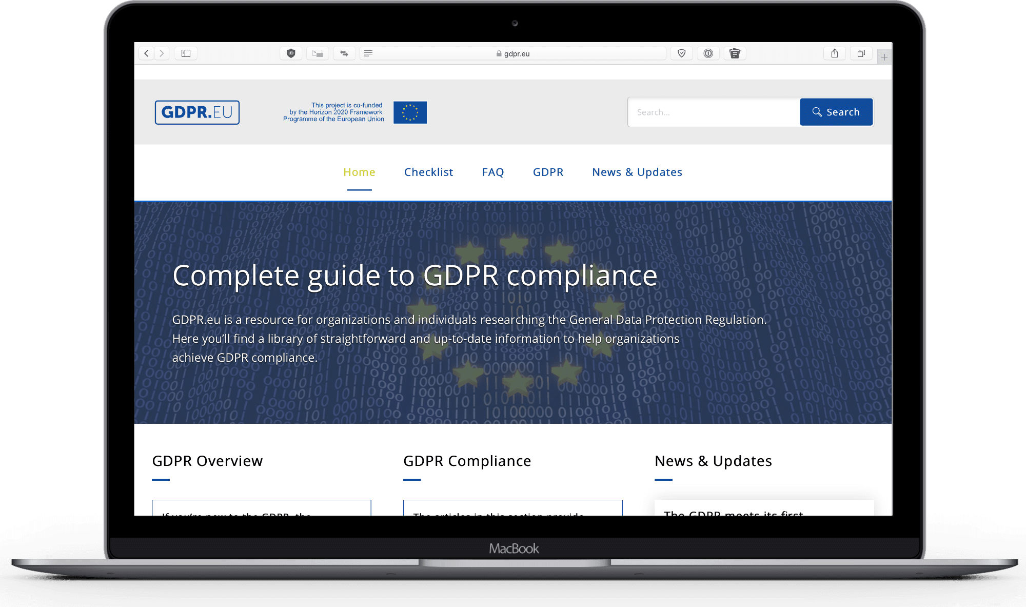 image of gdpr site