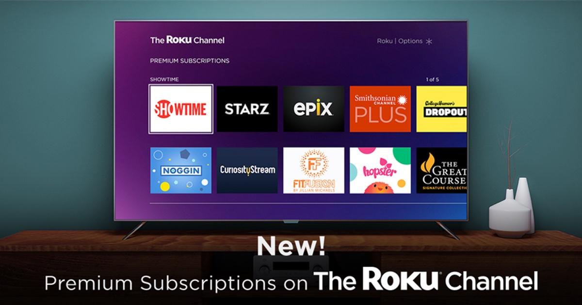 Roku Premium Subscriptions