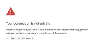 Gove Expired HTTPS