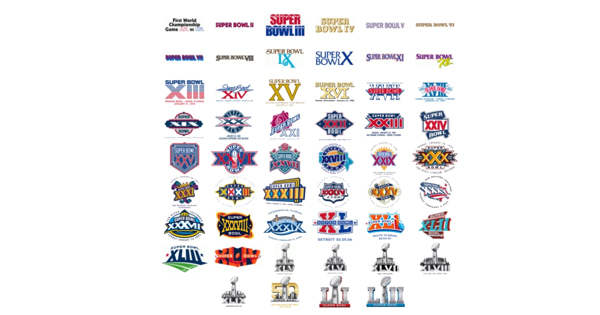 The Changing Style of Super Bowl Logos