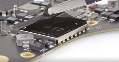 Photo of the T2 security chip
